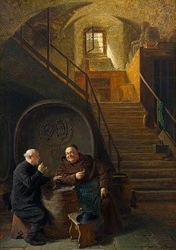 Eduard Grützner Besuch im Weinkeller 1906