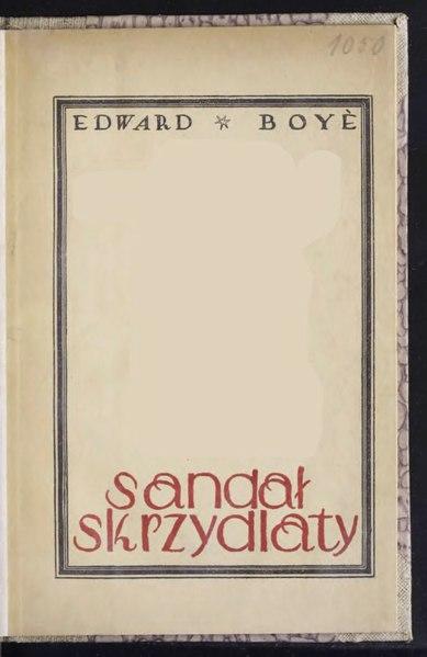 File:Edward Boyé - Sandał skrzydlaty.djvu
