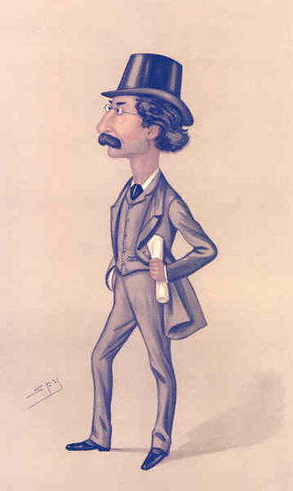 """Edward Pickersgill - """"Bethnal Green"""". Caricature by Spy published in Vanity Fair in 1888."""