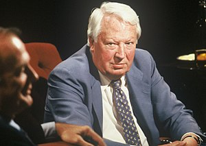 Edward Heath - Appearing on television discussion programme After Dark in 1989
