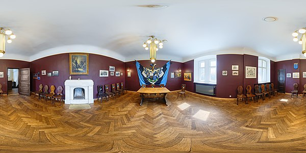 360° view on the coat of arms room of the Estonian Students' Society