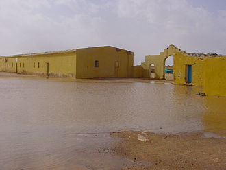 Sahrawi refugee camps - View of the 27 February camp after the floods that devastated the camps in February 2006