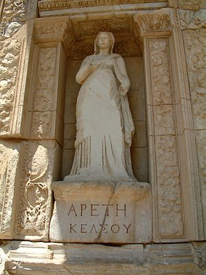 Personification of virtue (Greek ἀρετή) in Cel...