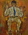 Egon Schiele - Portrait of Paris von Gütersloh (1887-1973) - Google Art Project.jpg