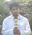 Ehsen Naveed airing views as Chief Proctor Frontier Medical College & President FWS 2011.jpg