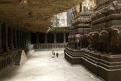 Ellora Caves, India, Kailasanatha Temple 2.jpg