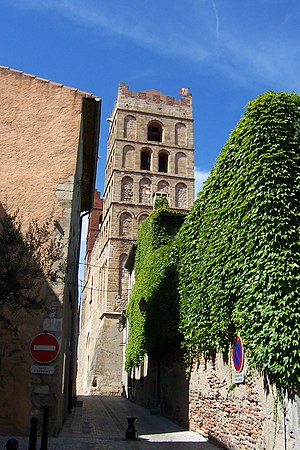 Elne - The north bell-tower of the cathedral