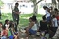 Em Porto da Manga, militar faz triagem de moradores que serão atendidos no navio-hospitalar tenente Maximiano (8091553547).jpg