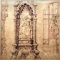 Emilio de fabris, studio per il tabernacolo della madonna sopra il portale di santa maria del fiore, 1877 (opera del duomo).jpg