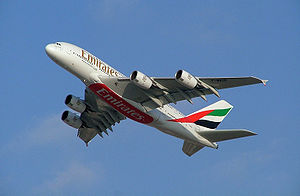 Airbus A380 (F-WWDD) painted in full Emirates ...