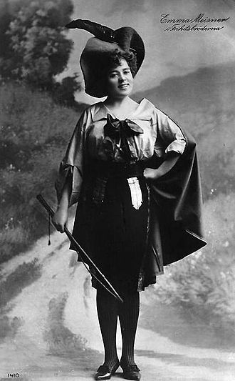 Les brigands - Emma Meissner as Fragoletto at the Oscarsteatern in 1906