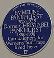 Emmeline Pankhurst 50 Clarendon Road blue plaque.jpg