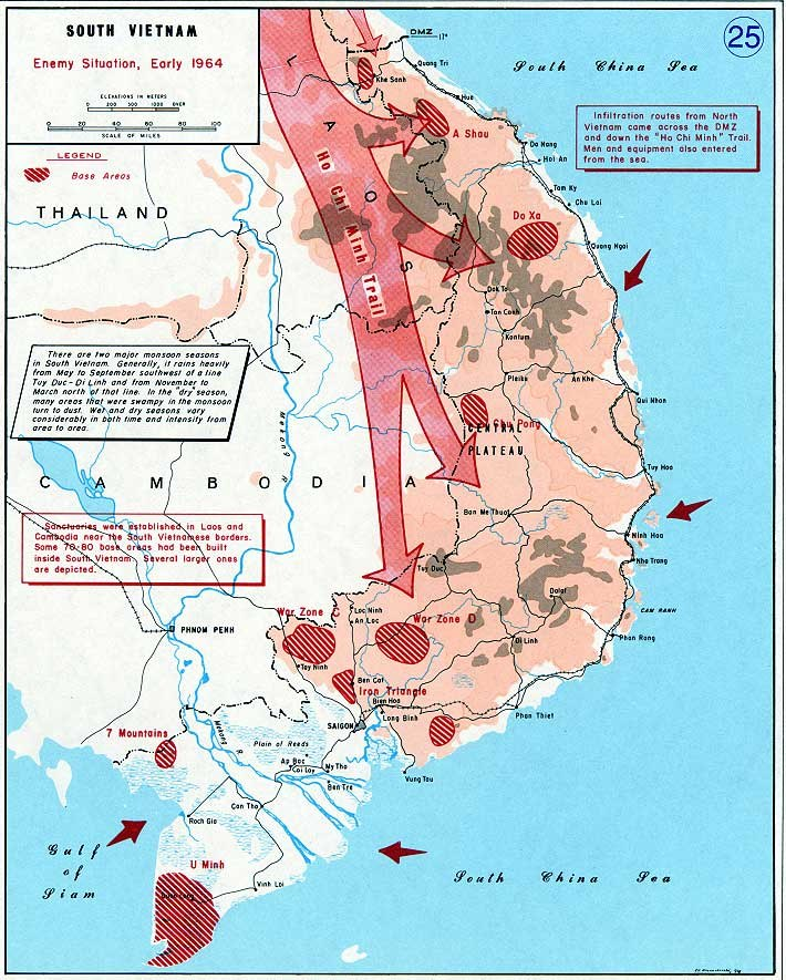 Enemy situation, early 1964