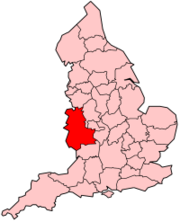 West Mercia Police shown within England