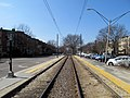 Englewood Avenue station facing west, March 2016.JPG
