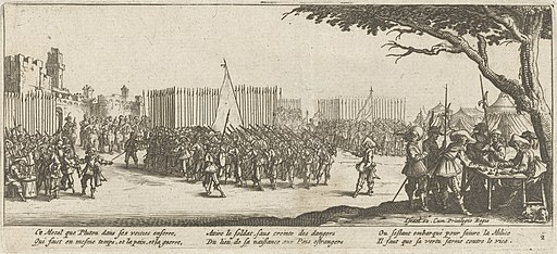 Enrolling from The Miseries and Misfortunes of War by Jacques Callot