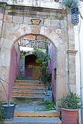 Entrance way in north medieval Rhodes 2010.jpg