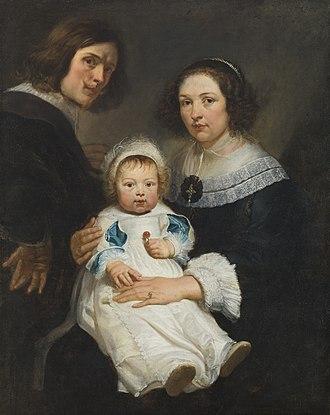Erasmus Quellinus II - Self-portrait with his wife Catherina de Hemelaer and son Jan Erasmus