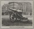 Erbeutete Kanone auf dem Hindenburgwall (Einblick in die Elberfelder Straße) in Düsseldorf 1916.png