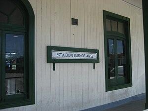 Buenos Aires Belgrano Sur Line railway station - Ticket office.