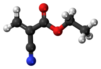 Ethyl cyanoacrylate - Image: Ethyl cyanoacrylate 3D ball