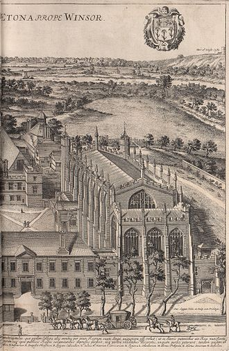 Eton College - Eton College in 1690, in an engraving by David Loggan