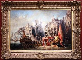 The arrival of Alva in Rotterdam