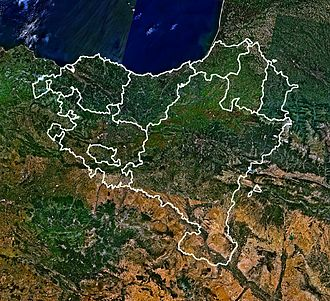 Physical geography of the Basque Country - The view of the Basque Country from the landsat satellite