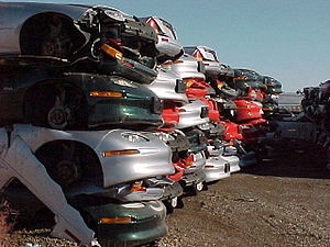 Who Killed the Electric Car? - Crushed EV1s in a junk yard are shown in the film