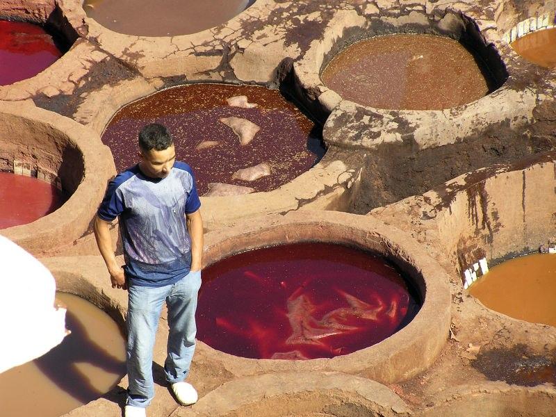 Färberei in Marokko