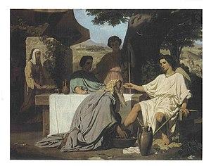 Félix-Henri Giacomotti - Abraham Washing the Feet of his Three Visitors.