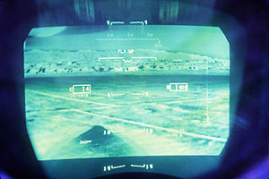 LANTIRN - F-15E Heads-up display of infrared image from the AN/AAQ-13 LANTIRN navigation pod