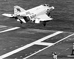 F-4B of VF-142 is launched from USS Constellation (CVA-64) in January 1969.jpg
