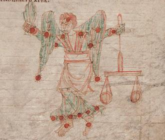 Virgo (constellation) - Depiction of Virgo, c.1000