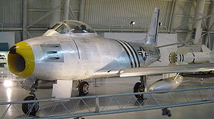 North American F-86 Sabre - Sabre at NASM in livery of 4th Fighter-Interceptor Wing