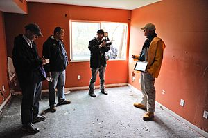 Cranston, RI, April 17, 2010 -- FEMA inspector...
