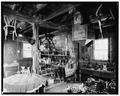 FIRST FLOOR, SOUTHEAST CORNER - Peters Mill, U.S. Route 209 and T301, Bushkill, Pike County, PA HABS PA,52-BUSH,2-5.tif