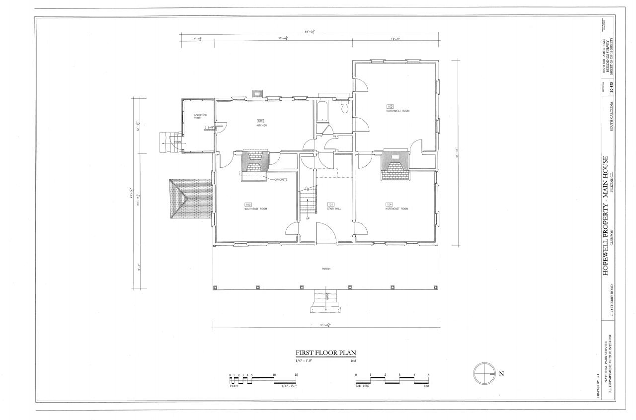 File First Floor Plan Hopewell Plantation Clemson