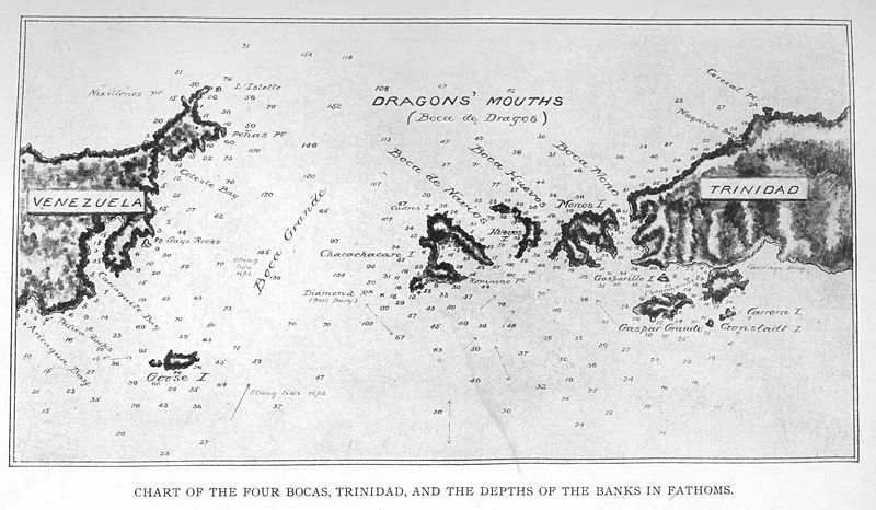 File:FMIB 48960 Chart of the Four Bocas, Trinidad, and the Depths of the Banks in Fathoms.jpeg