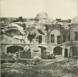 Second Battle of Charleston Harbor - Image: FT Sumter East Barracks Sep 1863a