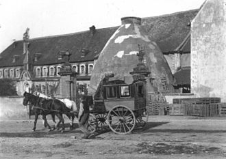 Niderviller pottery - Entrance of the manufactory c. 1900.