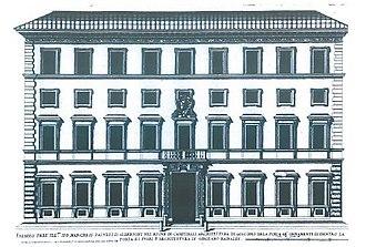 Palazzo Albertoni Spinola - Palace Albertoni Facade (1620 ca.)