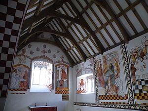 St Teilo's Church, Llandeilo Tal-y-bont - Interior of the church