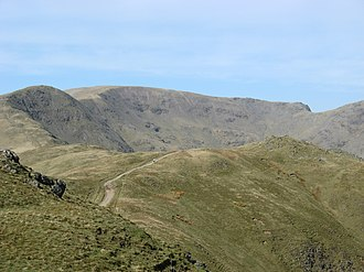 Fairfield (Lake District) - Great Rigg (left) and Fairfield from Heron Pike, on the Fairfield horseshoe.