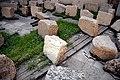 February 2015. Inscribed stone block of the Sassanian Paikuli Tower of King Narseh, Iraq, c. 293 CE, Sulaymaniyah Museum.jpg
