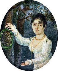 Miniature of Barbara Dąbrowska née Chłapowska (1782-1848).