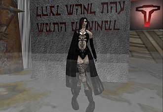 Culture of Second Life - A female vampire avatar.