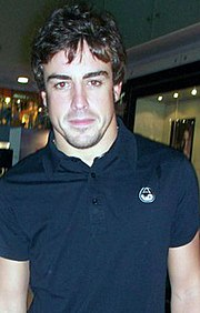 Fernando Alonso at Puma Store - Singapore GP 2010.jpg