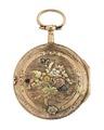 Fickur med boett av guld med blomsterdekor, 1760-tal - Hallwylska museet - 110424.tif