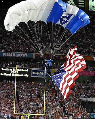 2003 Fiesta Bowl - Parachute demonstration during the pregame show